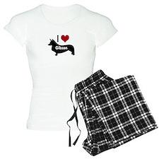 I Love My Corgi's Name Pajamas