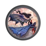 Gothic Fairy Fantasy Art Wall Clock