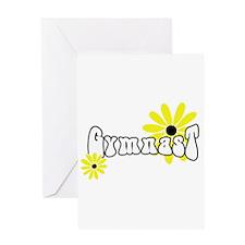 Gymnast Sunflowers Greeting Card