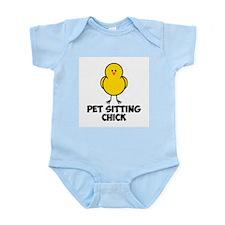 Pet Sitting CHick Infant Bodysuit