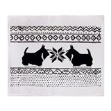 Scottish Terrier Holiday Swea Throw Blanket