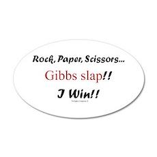 Gibbslaped I Win!! 38.5 x 24.5 Oval Wall Peel