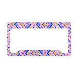 Pink Daisies and Diamonds License Plate Holder