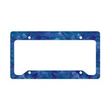 Blue Ocean Silk License Plate Holder