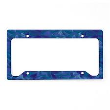 Blue Ocean Silk License Plate Holder