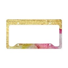 Fancy Vintage Floral License Plate Holder
