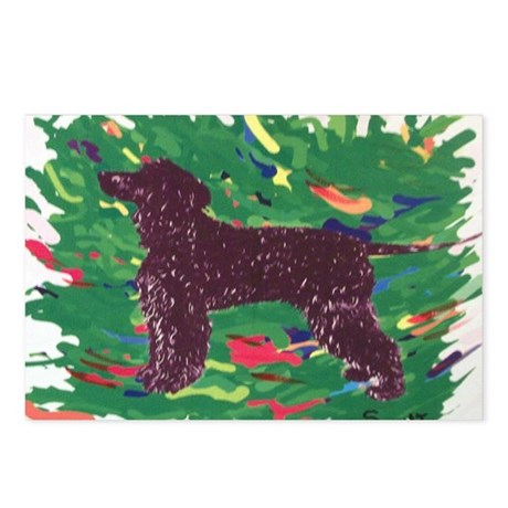Irish Water Spaniel Postcards (Package of 8)