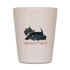 Scottie Squirrel Patrol Shot Glass