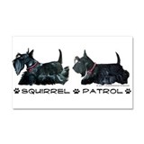 Scottie Squirrel Patrol Terri Car Magnet 20 x 12