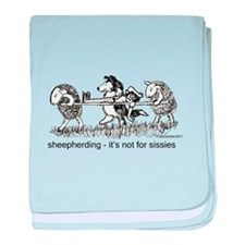 Sheepherding Sissies/Sheltie baby blanket
