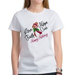 Holiday Multiple Myeloma Women's T-Shirt