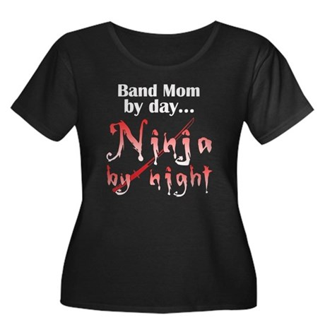 Band Mom Ninja Women's Plus Size Scoop Neck Dark T