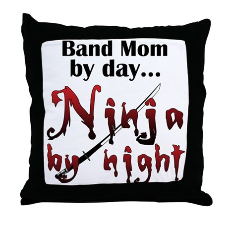 Band Mom Ninja Throw Pillow