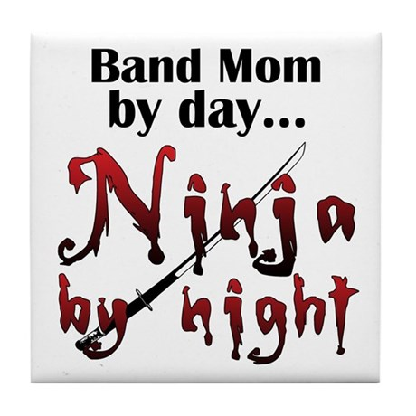 Band Mom Ninja Tile Coaster