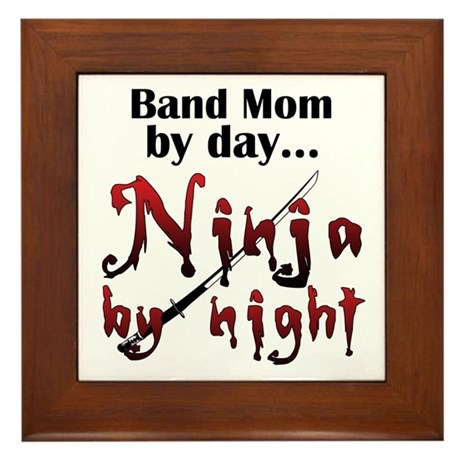 Band Mom Ninja Framed Tile