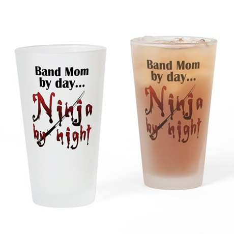 Band Mom Ninja Drinking Glass
