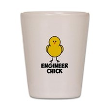 Engineer Chick Shot Glass