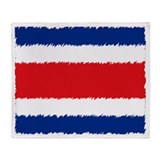 Costa Rican Flag Throw Blanket