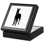 Christmas or Holiday Great Dane Silhouette Keepsak