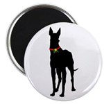 Christmas or Holiday Great Dane Silhouette Magnet