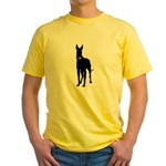 Christmas or Holiday Great Dane Silhouette Yellow