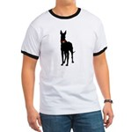 Christmas or Holiday Great Dane Silhouette Ringer