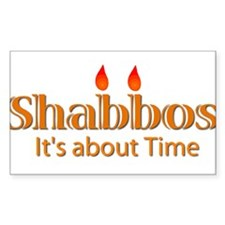 Shabbos It's About Time Rectangle Decal