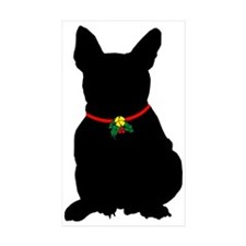 Christmas or Holiday French Bulldog Silhouette Sti