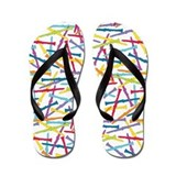 Colorful Clarinets Flip Flops