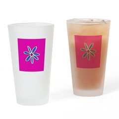 Pink Floral Reunion Drinking Glasses