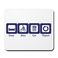 Sleep- Bike- Eat- Repeat Mousepad