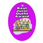 Best Juror Outfit Award Ornament (Oval)