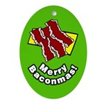 Merry Baconmas Bacon Ornament (Oval)