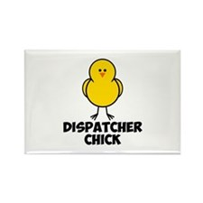 Dispatcher Chick Rectangle Magnet (10 pack)