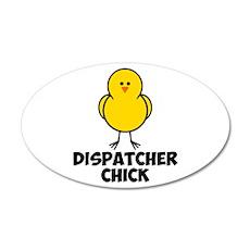 Dispatcher Chick 38.5 x 24.5 Oval Wall Peel