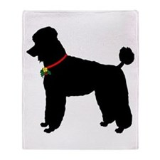 Poodle Silhouette Throw Blanket