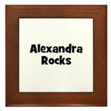 Alexandra Rocks Framed Tile