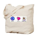 Peace Love and Ice Cream Sundaes Tote Bag