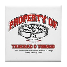 Property Of trinidad and Toba Tile Coaster
