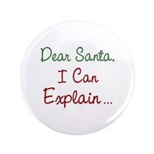 "Dear Santa 3.5"" Button (100 pack)"