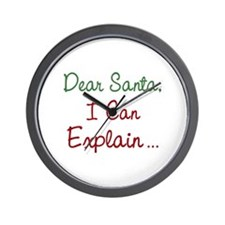 Dear Santa Wall Clock