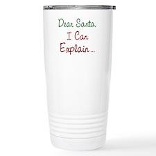 Dear Santa Stainless Steel Travel Mug