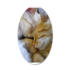 Snuggle Kittens 38.5 x 24.5 Oval Wall Peel