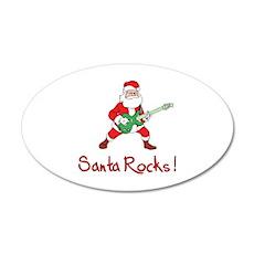 Santa Rocks! 38.5 x 24.5 Oval Wall Peel
