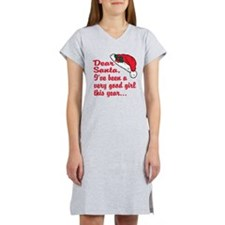 Dear santa I was a good gir Women's Nightshirt