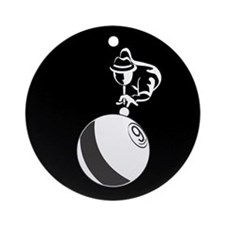 9-Ball Billiards Ornament (Round)