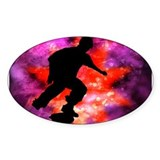 Skateboarder in Cosmic Clouds Decal