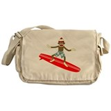 Sock Monkey Surfer Messenger Bag