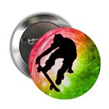 "Skateboarder in a Psychedelic 2.25"" Button"