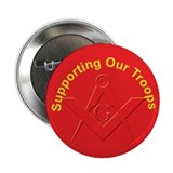 "Masonic ""Wear Red"" Support our Troops Button"